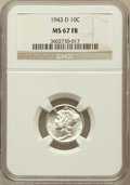 Mercury Dimes: , 1943-D 10C MS67 Full Bands NGC. NGC Census: (598/11). PCGSPopulation (620/26). Mintage: 71,949,000. Numismedia Wsl. Price ...