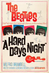 "A Hard Day's Night (United Artists, 1964). Poster (40"" X 60"")"