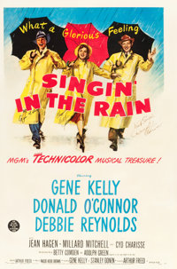 "Singin' in the Rain (MGM, 1952). Autographed One Sheet (27"" X 41""). From the collection of GLG"