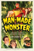 "Movie Posters:Horror, Man Made Monster (Universal, 1941). One Sheet (27"" X 41"").. ..."