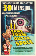 """Movie Posters:Science Fiction, It Came from Outer Space (Universal International, 1953). One Sheet (27"""" X 41"""") & Snipe (6.5"""" X 24.75""""). 3-D Style.. ... (Total: 2 Items)"""