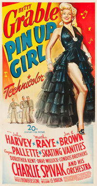 "Pin Up Girl (20th Century Fox, 1944). Three Sheet (41"" X 81""). From the collection of GLG"