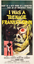 "Movie Posters:Horror, I Was a Teenage Frankenstein (American International, 1957). ThreeSheet (41"" X 81"").. ..."