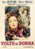 "Movie Posters:Drama, A Woman's Face (MGM, Late 1940s). First Post-War Italian 2 - Foglio (39"" X 55"") Ercole Brini Art.. ..."
