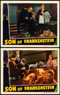 "Movie Posters:Horror, Son of Frankenstein (Universal, 1939). Lobby Cards (2) (11"" X14"").. ... (Total: 2 Items)"