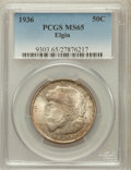 Commemorative Silver: , 1936 50C Elgin MS65 PCGS. PCGS Population (2140/1302). NGC Census:(1402/847). Mintage: 20,015. Numismedia Wsl. Price for p...