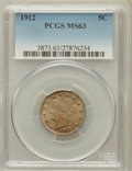 Liberty Nickels: , 1912 5C MS63 PCGS. PCGS Population (395/666). NGC Census:(245/525). Mintage: 26,236,714. Numismedia Wsl. Price forproblem...