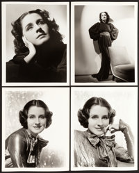"""Norma Shearer by George Hurrell (MGM, 1930s). Portrait Photos (4) (8"""" X 10""""). ... (Total: 4 Items)"""