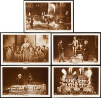 "Metropolis (UFA, 1927). German Postcard Set of 12 & Autographed Postcard (3.5"" X 5.5""). ... (Total: 13..."