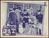 """The Three Stooges in Mutts To You (Columbia, 1938). Lobby Card (11"""" X 14"""")"""