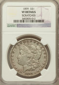 Morgan Dollars, 1899 $1 -- Scratches -- NGC Details. VF. NGC Census: (7/8430). PCGSPopulation (24/11192). Mintage: 330,846. Numismedia...
