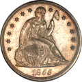 Proof Seated Dollars, 1855 $1 PR63 PCGS....