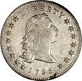 Early Dollars, 1795 $1 Flowing Hair, Two Leaves AU50 PCGS. B-1, BB-21, R.2....