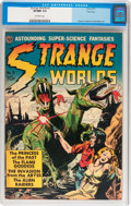Golden Age (1938-1955):Science Fiction, Strange Worlds #3 River City pedigree (Avon, 1951) CGC VF/NM 9.0Off-white pages....