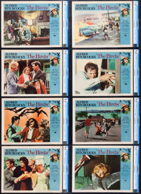 """The Birds (Universal, 1963). CGC Graded Lobby Card Set of 8 (11"""" X 14""""). ... (Total: 8 Items)"""