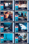 """Movie Posters:Horror, Jaws (Universal, 1975). CGC Graded Lobby Card Set of 8 (11"""" X14"""").. ... (Total: 8 Items)"""