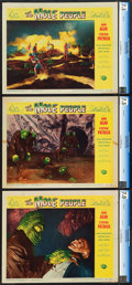 """Movie Posters:Science Fiction, The Mole People (Universal International, 1956). CGC Graded LobbyCards (3) (11"""" X 14"""").. ... (Total: 3 Items)"""