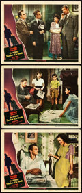 "Movie Posters:Hitchcock, Shadow of a Doubt (Universal, 1943). Lobby Cards (3) (11"" X 14"")..... (Total: 3 Items)"