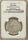 Bust Half Dollars, 1825 50C -- Improperly Cleaned -- NGC Details. XF. NGC Census:(56/898). PCGS Population (108/990). Mintage: 2,900,000. Num...