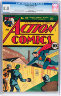 Golden Age (1938-1955):Superhero, Action Comics #37 (DC, 1941) CGC VF 8.0 Light tan to off-white pages....