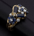 Estate Jewelry:Rings, Diamond, Synthetic Sapphire, Gold Ring. ...