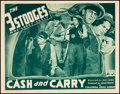 "Movie Posters:Comedy, The Three Stooges in Cash and Carry (Columbia, 1937). Lobby Card (11"" X 14"").. ..."