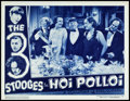 "Movie Posters:Comedy, The Three Stooges in Hoi Polloi (Columbia, 1935). Lobby Card (11"" X14"").. ..."