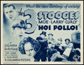 "Movie Posters:Comedy, The Three Stooges in Hoi Polloi (Columbia, 1935). Title Lobby Card(11"" X 14"").. ..."