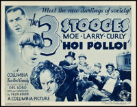 "The Three Stooges in Hoi Polloi (Columbia, 1935). Title Lobby Card (11"" X 14"")"