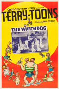"Movie Posters:Animation, Terry-Toons Stock Poster (20th Century Fox, 1939). One Sheet (27"" X 41"") ""The Watchdog."". ..."