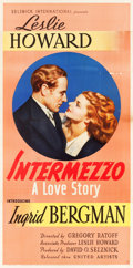 "Movie Posters:Romance, Intermezzo (United Artists, 1939). Three Sheet (41"" X 81"").. ..."