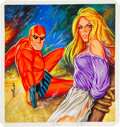 Original Comic Art:Covers, Aslan Sukur Kizil Maske (The Phantom) Painted Cover OriginalArt (undated)....