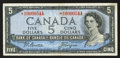 Canadian Currency: , BC-39aA-i $5 1954 Replacement with *R/C Prefix. ...