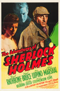 "Movie Posters:Mystery, The Adventures of Sherlock Holmes (20th Century Fox, 1939). OneSheet (27"" X 41"").. ..."