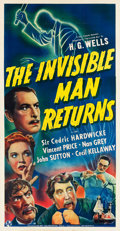 "Movie Posters:Horror, The Invisible Man Returns (Universal, 1940). Three Sheet (41"" X80"").. ..."