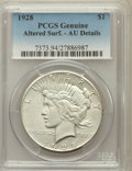 Peace Dollars: , 1928 $1 -- Altered Surface -- PCGS Genuine. AU Details. NGC Census:(93/5795). PCGS Population (174/7713). Mintage: 360,649...