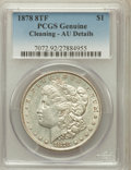 Morgan Dollars, 1878 8TF $1 -- Cleaning -- PCGS Genuine. AU Details. NGC Census:(34/7461). PCGS Population (44/9600). Mintage: 699,300...