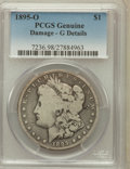 Morgan Dollars, 1895-O $1 -- Damage -- PCGS Genuine. G Details. NGC Census:(128/4367). PCGS Population (77/5116). Mintage: 450,000. Nu...