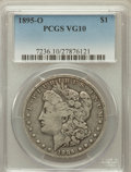 Morgan Dollars: , 1895-O $1 VG10 PCGS. PCGS Population (160/4638). NGC Census:(73/4080). Mintage: 450,000. Numismedia Wsl. Price for problem...