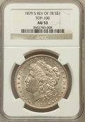 Morgan Dollars, 1879-S $1 Reverse of 1878 AU53 NGC. TOP-100. NGC Census: (20/1367).PCGS Population (43/2909). Numismedia Wsl. Price for p...