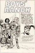 "Original Comic Art:Splash Pages, Jack Kirby Boys' Ranch #3 ""Mother Delilah"" Splash PageOriginal Art (Harvey, 1951)...."