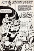 "Original Comic Art:Complete Story, Jack Kirby and Al Williamson Blast-Off #1 The 3 Rocketeers Complete 5-Page Story ""Lunar Goliaths"" Original Art (Ha..."