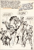 Original Comic Art:Covers, Jack Kirby Boys' Ranch #6 Inside Front Cover Original Art(Harvey, 1951)....