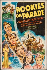 """Rookies on Parade (Republic, 1941). One Sheet (27"""" X 40""""), and Lobby Card Set of 8 (11"""" X 14'). Musical..."""