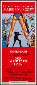 "Movie Posters:James Bond, For Your Eyes Only (United Artists, 1981). Australian Daybill (13""X 30""). James Bond.. ..."