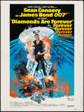 "Movie Posters:James Bond, Diamonds are Forever (United Artists, 1971). Poster (30"" X 40""). James Bond.. ..."
