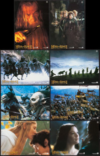 """The Lord of the Rings: The Fellowship of the Ring (New Line, 2001). German Lobby Card Set of 8 (8.25"""" X 11.75""""..."""