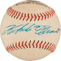 Autographs:Baseballs, Circa 1970 Roberto Clemente Single Signed Baseball, PSA/DNA NM-MT8....