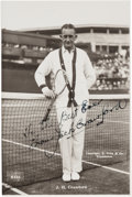 Autographs:Photos, Early 1930's Jack Crawford Signed Photograph to Ellsworth Vines....