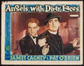 """Movie Posters:Crime, Angels with Dirty Faces (Warner Brothers, R-1943). Lobby Card (11""""X 14""""). Crime.. ..."""